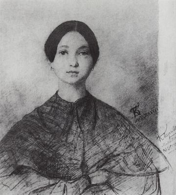 Karl Pavlovich Bryullov. Portrait of Y. P. Sokolova, the artist's sister