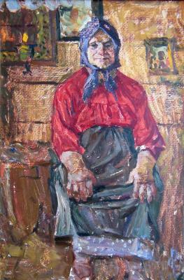 Владимир Иванович Бичевой. Portrait of Anna Fedorovna. Sketch