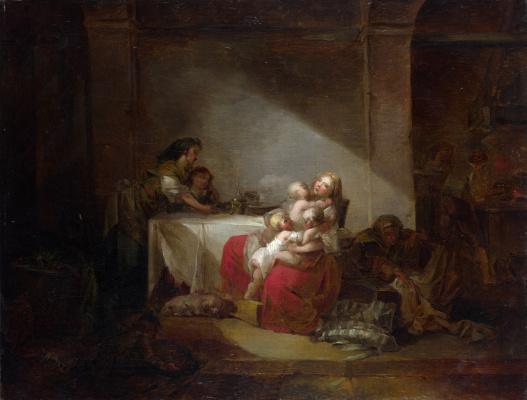 Jean Honore Fragonard. Scene in the interior
