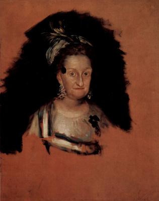 Francisco Goya. Josefa Maria de Bourbon, the Spanish Infanta
