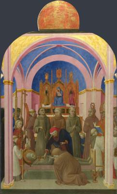 Сассетта. Похороны святого Франциска