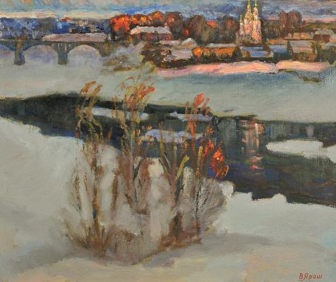 Валерий Иванович Ярош. City at sunset