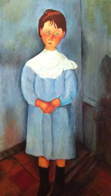 Андрей Харланов. Copy: Modigliani - Girl in blue 1918 Oil on canvas 116 x 73 cm
