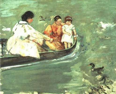 Mary Cassatt. On the water