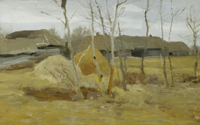 Alexey Stepanovich Stepanov. Autumn. Stack