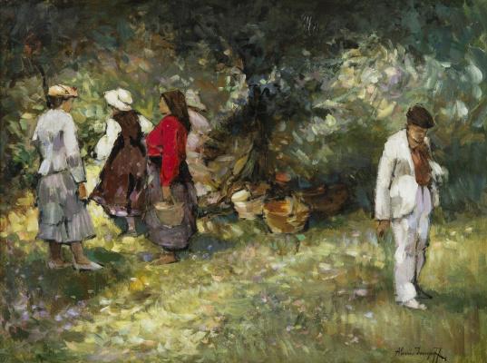 Alexey Vladimirovich Isupov. Picking berries in the Forrest. 1922