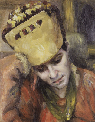 Vasily Ivanovich Surikov. Portrait of a young woman in kokoshnik