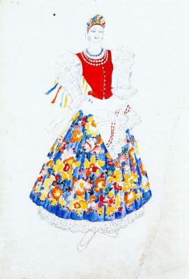 "Natalia Sergeevna Goncharova. Costume design for the ballet ""Les Noces"" by Igor Stravinsky"