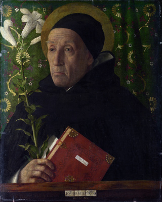 Giovanni Bellini. Portrait of Fra Teodoro from Urbino in the image of St. Dominic