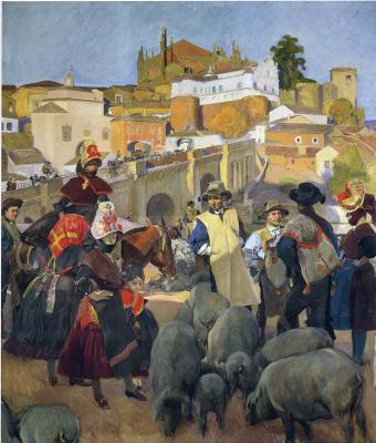 Хоакин Соролья (Соройя). Рынок, Эстремадура