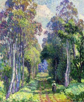 Henri Lebasque. Walk in the woods
