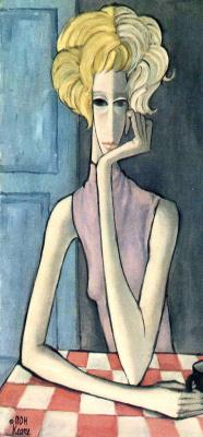 Маргарет Кин. Блондинка за столом