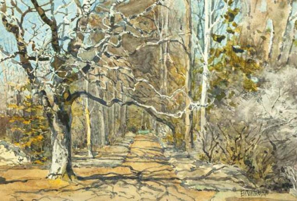 Elena Dmitrievna Polenova. Alley in the early spring. Etude
