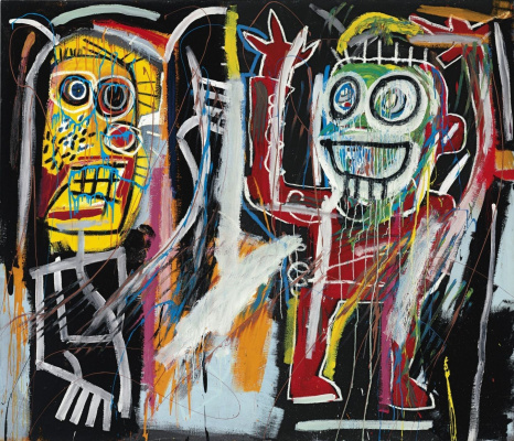 Jean-Michel Basquiat. Zadurmanennyh head (Dustheads)