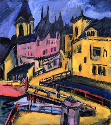 Ernst Ludwig Kirchner. The bridge at the city gates, Chemnitz