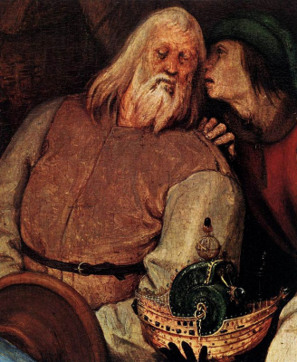 Pieter Bruegel The Elder. The adoration of the Magi. Fragment 2