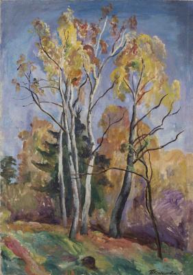 Petr Petrovich Konchalovsky. Birch in autumn
