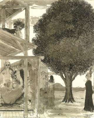 Paul Delvo. Old tree