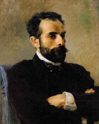 Vasily Dmitrievich Polenov. Portrait Of I. I. Levitan