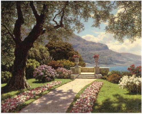 Ivan Fedorovich Schultze. Garden with sea views