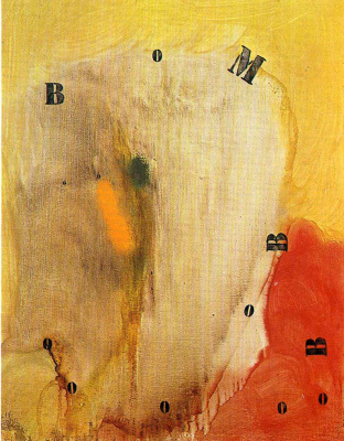 Joan Miro. Letters and numbers attracted by the sparks