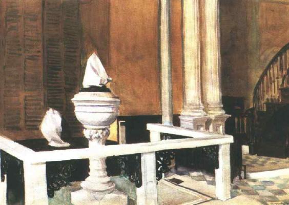 Edward Hopper. The Baptistery Of St. John