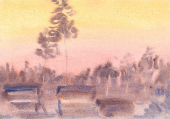 Вячеслав Крыжановский. Pines beyond the hill (state 6).