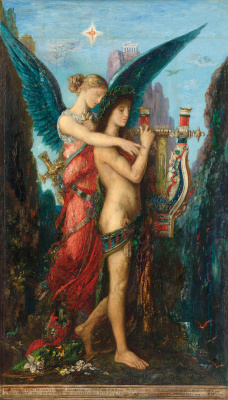 Gustave Moreau. Hesiod and Muse