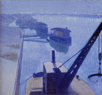 Charles Guillaume. The Seine at Saint-Denis