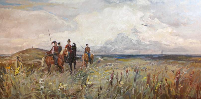 Victor Vladimirovich Babentsov. Cossacks in the field