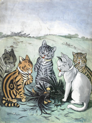 Louis Wain. What do we do with feathers?