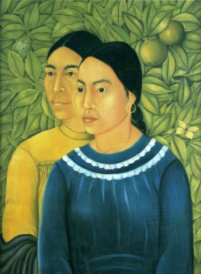 Фрида Кало. Две женщины (Сальвадора и Эрминия)