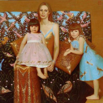 Андрей Владимирович Ремнев. Портрет матери с детьми. 2006