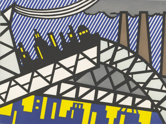 Roy Lichtenstein. New fall of America. Sheet 23