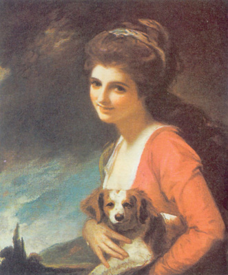 "George Romney. Lady Hamilton as ""Nature"""