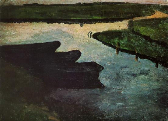Паула Модерсон-Бекер. Заболоченный канал с торфяными пятнами