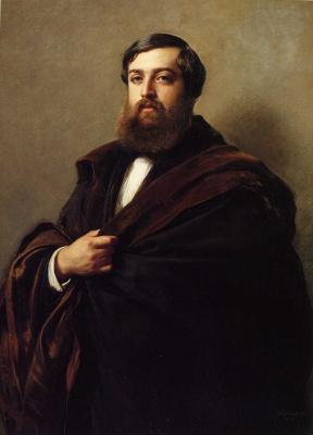 Franz Xaver Winterhalter. Sofa Alfred-Emilien, Comte de Divergence