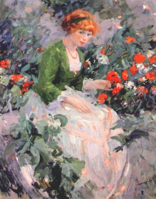 Буехр. Девушка в цветах
