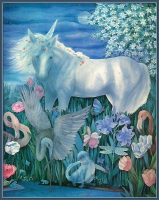 Джей Берч. Единорог и цветы