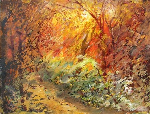 Alexander Ivanovich Vlasyuk. Autumn gold