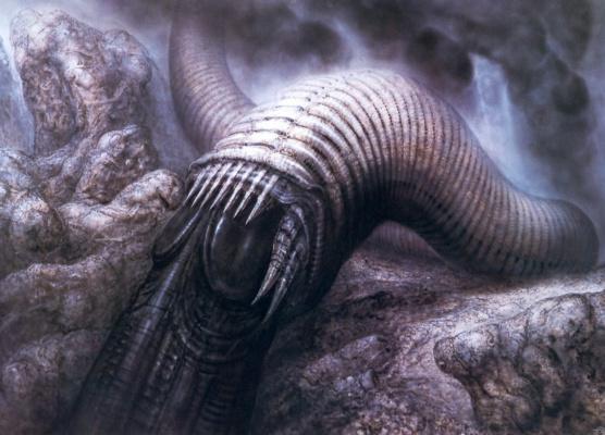 Hans Rudolph Giger. Dune Worm