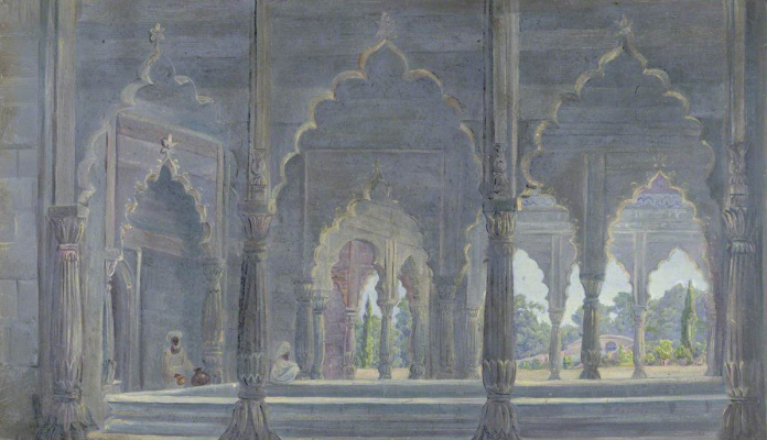 Marianna North. Lucknow Palace, India