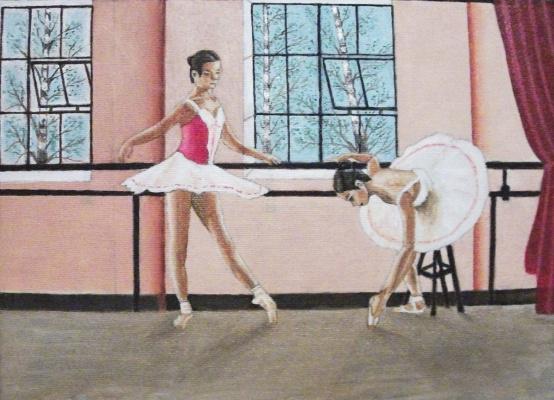 Victor Petrovich Burmin. Ballerinas at rehearsal