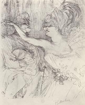 "Henri de Toulouse-Lautrec. Gee and Miles in the Revue ""Paris in motion"""