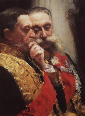 Ilya Efimovich Repin. Portrait of L. I. Goremykina N. N. Gerard, members of the state Council. Etude