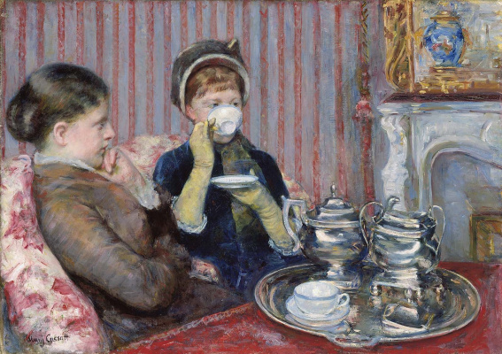 Mary Cassatt. The tea party