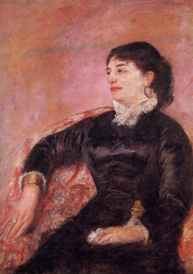 Mary Cassatt. Portrait of an Italian lady