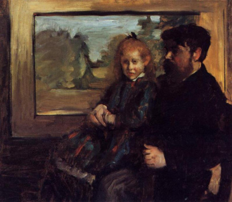 Edgar Degas. Henri Ruard and his daughter Helen