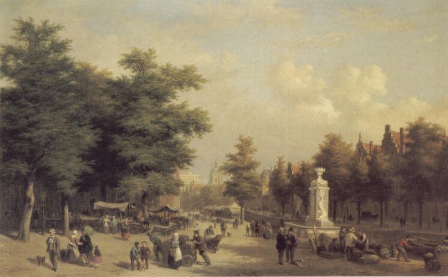 Хубертус Ван Хов. Амстердамский рынок