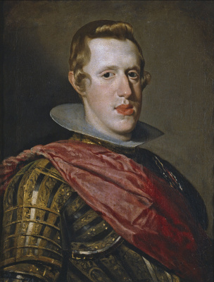 Diego Velazquez. Portrait of Philip IV in armour